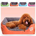 ราคาถูก ที่นอนและผ้าห่มสำหรับสุนัข-หลายสีโพลีเอสเตอร์รูปร่างกล่องน่ารักเตียงสัตว์เลี้ยงสำหรับสุนัขแมว 58 * 45 * 14 ซม. / 23 * 18 * 6 นิ้ว