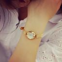 billiga Modeklockor-Dam Armbandsklocka guldklocka Quartz Nät Guld 30 m Vardaglig klocka Ramtyp damer Vintage Mode - Brun Silver