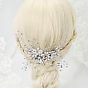 billiga Huvudsmycken till fest-Oäkta pärla / Bergkristall / Legering Hair Combs med 1 Bröllop / Speciellt Tillfälle Hårbonad