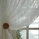 billige 3D gardiner-klargjorte miljøvennlige rene gardiner nyanser to paneler jacquard / soverom