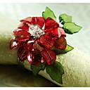 ราคาถูก แหวนผ้าเช็ดปาก-อะคริลิค ห่วงห่อผ้าเช็ดปาก Patterned เป็นมิตรกับสิ่งแวดล้อม ตกแต่งโต๊ะ 12 pcs