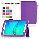 ราคาถูก Novelty Lighting-Case สำหรับ Samsung Galaxy / แท็บ 8.0 / แท็บ 9.7 with Stand / Flip ตัวกระเป๋าเต็ม สีพื้น หนัง PU