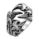billige Båndringe-Herre Ring vikle ring Sølv Rustfritt Stål Titanium Stål Personalisert Mote Halloween Daglig Smykker Drage