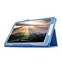 billige Tilbehør til hodetelefoner-Etui Til Samsung Galaxy Tab E 9.6 med stativ / Flipp Heldekkende etui Ensfarget PU Leather