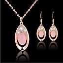 Χαμηλού Κόστους Μοδάτα Σκουλαρίκια-Κρυστάλλινο Σετ Κοσμημάτων Κρεμαστά Κολιέ κυρίες Πάρτι Γραφείο Μοντέρνα Cubic Zirconia Με Επίστρωση Ροζ Χρυσού Σκουλαρίκια Κοσμήματα Χρυσό Τριανταφυλλί Για