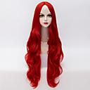 Χαμηλού Κόστους Εξτένσιος μαλλιών με φυσικό χρώμα-Συνθετικές Περούκες Κυματιστό Χαλαρό Κυματιστό Χαλαρό Κυματιστό Περούκα πολύ μακριά Κόκκινο Συνθετικά μαλλιά Γυναικεία Στη μέση