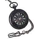 voordelige Zakhorloge-Heren Zakhorloge mechanische horloges Handmatig opwindmechanisme 30 m Hol Gegraveerd Analoog Luxe Steampunk - Zwart