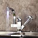 billige Dusjhoder-kjøkkenkran - et hulls krom uttrekkbar / nedtrekksdekk montert moderne / enkelthåndtak ett hull