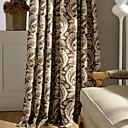 billiga Fönstergardiner-en panel blad bomull linne utskrift gardin