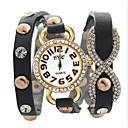 ราคาถูก ตุ้มหู-สำหรับผู้หญิง นาฬิกาแฟชั่น นาฬิกาอิเล็กทรอนิกส์ (Quartz) PU Leather ระบบอนาล็อก สีเขียว ฟ้า สีชมพู / สแตนเลส