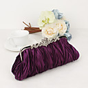 ราคาถูก กระเป๋าถือออกงานและกระเป๋าคลัทช์-สำหรับผู้หญิง คริสตัล / พลอยเทียม ซาติน / Metal กระเป๋าราตรี ถุงเย็นคริสตัล Rhinestone สีม่วง / สีน้ำตาล / แดง / กระเป๋าจัดงานแต่งงาน / กระเป๋าจัดงานแต่งงาน