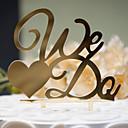 billiga Tårttoppar till bröllop-Tårttoppar Klassisker Tema Klassiskt Par Hårt Plast Bröllop Årsdag Möhippa med 1 OPP