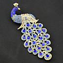 povoljno Značke i broševi-Žene Broševi Paun Vintage Moda Pozlaćeni Broš Jewelry Navy Plava Za Party Special Occasion