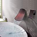 Χαμηλού Κόστους Οδηγοί Φλας USB-Μπάνιο βρύση νεροχύτη - Καταρράκτης Λαδωμένο Μπρούντζινο Αναμεικτικές με ξεχωριστές βαλβίδες Ενιαία Χειριστείτε δύο τρύπεςBath Taps / Ορείχαλκος