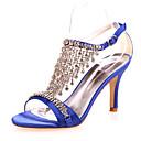 povoljno Naušnice-Žene Cipele na petu Stiletto potpetica Saten Udobne cipele Proljeće / Ljeto Crvena / Plava / Kristalne / Vjenčanje / Zabava i večer / EU42