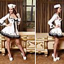 Χαμηλού Κόστους Ζυγαριές-Στολές Κοστούμια καριέρας Στολές Ηρώων Γυναικεία Σέξι Στολές Ναυτικές Στολές Halloween Απόκριες Γιορτές / Διακοπές Τερυλίνη Σατέν Λευκό Γυναικεία Αποκριάτικα Κοστούμια / Βαμβάκι / Κορυφή / Καπέλο