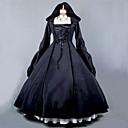 Χαμηλού Κόστους Φορέματα Λολίτα-Steampunk® Γοτθική Λολίτα Φορέματα Γυναικεία Κοριτσίστικα Βαμβάκι Πάρτι Χοροεσπερίδα Ιαπωνικά Κοστούμια Cosplay Μεγάλα Μεγέθη Προσαρμοσμένη Μαύρο Βραδινή τουαλέτα Πεπαλαιωμένο Ποιητής Μακρυμάνικο
