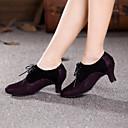 Χαμηλού Κόστους Παπούτσια χορού λάτιν-Γυναικεία Μοντέρνα παπούτσια / Αίθουσα χορού Σουέτ Δαντέλα μέχρι πάνω Τακούνια Κορδόνια Κουβανικό Τακούνι Μη Εξατομικευμένο Παπούτσια Χορού Κίτρινο / Φούξια / Εσωτερικό / Επίδοση / Εξάσκηση / EU41
