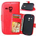 ราคาถูก มัลติมิเตอร์แบบดิจิตอลและออสซิลโลสโคป-Case สำหรับ Samsung Galaxy S5 Mini / S4 Mini / S4 Wallet / Card Holder / with Stand ตัวกระเป๋าเต็ม สีพื้น หนัง PU