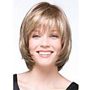 billiga Syntetiska peruker utan hätta-Syntetiska peruker Vågigt Vågigt Peruk Blond Korta Blond Syntetiskt hår Dam Blond