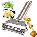 cheap Fruit & Vegetable Tools-Stainless Steel Julienne Peeler Vegetable Peeler Double Planing Grater Kitchen Tools