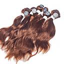 billige Hairextension med naturlig farge-Brasiliansk hår Naturlige bølger 8A Menneskehår Vevet Hårvever med menneskehår Hairextensions med menneskehår