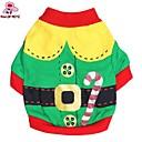 billige Hundeklær-Kat / Hund Kostume / Frakker / Trøye / T-skjorte Hundeklær Rød / Grønn Bomull Kostume For kjæledyr Herre / Dame Cosplay / Halloween / Jul