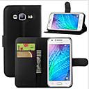ราคาถูก รอกตกปลา-Case สำหรับ Samsung Galaxy J7 (2016) / J7 / J5 (2016) Wallet / Card Holder / with Stand ตัวกระเป๋าเต็ม สีพื้น หนัง PU