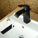 ราคาถูก ก๊อกอ่างล้างหน้าในห้องน้ำ-ร่วมสมัย - DI ทองเหลือง - น้ำตก (ทองแดงขัดน้ำมัน)