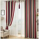 billiga Fönstergardiner-blackout gardiner draperier två paneler sovrum stripe polyester print & jacquard