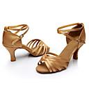 Χαμηλού Κόστους Μοντέλα και μοντέλα-Γυναικεία Παπούτσια Χορού Μετάξι Παπούτσια χορού λάτιν / Παπούτσια σάλσα Αγκράφα / Κορδέλα Πέδιλα / Αθλητικά Προσαρμοσμένο τακούνι Εξατομικευμένο Ασημί / Καφέ / Χρυσό / Επίδοση / Εξάσκηση / EU40