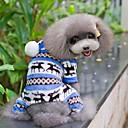 Χαμηλού Κόστους Smartwatch Bands-Σκύλος Φόρμες Πυτζάμες Χειμώνας Ρούχα για σκύλους Καφέ Κόκκινο Μπλε Στολές Πολική Προβιά Χιονονιφάδα Καθημερινά XS Τ M L XL XXL