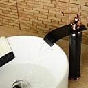 povoljno Slavine za umivaonik-Kupaonica Sudoper pipa - Waterfall Lakirana bronca Središnje pozicionirane One Hole / Jedan Ručka jedna rupaBath Taps