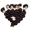 billige Hairextension med naturlig farge-Brasiliansk hår Dyp Bølge 8A Menneskehår Vevet Hårvever med menneskehår Hairextensions med menneskehår
