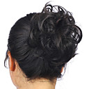 billiga Chinjonger-Hårstycke Klassisk / Lockigt Hårknut Syntetiskt hår Hårstycke HÅRFÖRLÄNGNING Klassisk / Lockigt Dagligen 4-30 / 613 / 22-613