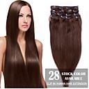 Χαμηλού Κόστους Εξτένσιονς μαλλιών με κλιπ-Febay Κουμπωτό Επεκτάσεις ανθρώπινα μαλλιών Ίσιο Φυσικά μαλλιά Εξτένσιον από Ανθρώπινη Τρίχα 1 δέσμη Γυναικεία Φως ξανθιά