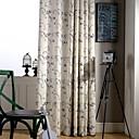billiga Fönstergardiner-gardiner draperier två paneler sängkläder / polyester blandning tryck & jacquard