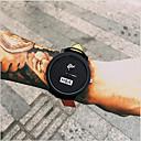 billiga Modeklockor-Herr Armbandsur Quartz Läder Svart Vardaglig klocka Häftig Ramtyp Mode - Vit Svart Ett år Batteriliv / Tianqiu 377