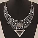 billiga Jewelry Set-Dam Krage Uttalande Halsband Statement damer Asiatisk Europeisk Syntetiska Ädelstenar Legering Guld Silver Halsband Smycken Till