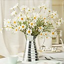 Χαμηλού Κόστους Ψεύτικα Λουλούδια-Ψεύτικα λουλούδια 1 Κλαδί Ποιμενικό Στυλ Ηλιοτρόπια Μαργαρίτες Μαγνολία Λουλούδι για Τραπέζι
