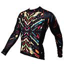 ราคาถูก เสื้อปั่นจักรยาน-ILPALADINO สำหรับผู้ชาย แขนยาว Cycling Jersey สีดำ สลับ จักรยาน เสื้อยืด Tops ขี่จักรยานปีนเขา Road Cycling ระบายอากาศ แห้งเร็ว Ultraviolet Resistant กีฬา ฤดูหนาว เส้นใยสังเคราะห์ 100 / กระเป๋าหลัง