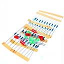billiga Kit-50st 1k 10k 100k 220 ohm 1 / 4w metallfilm motstånd och ledde kit för hallon pi / Arduino