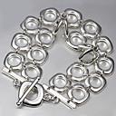 billiga Modeörhängen-Dam Kedje & Länk Armband Sterlingsilver Armband Smycken Silver Till Julklappar Bröllop Party Dagligen Casual
