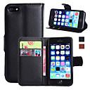 billiga Herraccessoarer-fodral Till Apple iPhone 7 Plus / iPhone 7 / iPhone 6s Plus Plånbok / Korthållare / med stativ Fodral Enfärgad Hårt PU läder