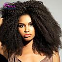 Χαμηλού Κόστους Ρεμί Εξτένσιον από Ανθρώπινη Τρίχα-Φυσικά μαλλιά Δαντέλα Μπροστά Χωρίς Κόλλα Δαντέλα Μπροστά Περούκα στυλ Βραζιλιάνικη Σγουρά Afro Περούκα 120% Πυκνότητα μαλλιών / Φυσική γραμμή των μαλλιών / 100% δεμένη στο χέρι / με τα μαλλιά μωρών
