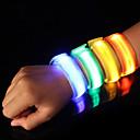 billiga Reflexkläder-Reflexband / LED-armband för jogging Säkerhet / Hög synlighet Nylon för Camping / Vandring / Grottkrypning / Löpning / Cykling Röd / Blå / Gul Batteri