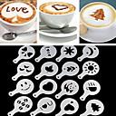 billige Lagring og oppbevaring-1 sett kafé skum spray mal Barista stencils dekorasjonsverktøy kransform kaffe utskrift blomstermodell