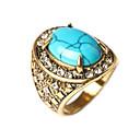 billiga Moderingar-Dam Ring Turkos Röd Grön Blå Turkos damer Asiatisk Mode Dagligen Smycken