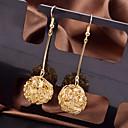 billiga Jewelry Set-Dam Dropp Örhängen damer Mode Elegant örhängen Smycken Silver / Brun Till Bröllop Party Speciellt Tillfälle Dagligen Casual Maskerad