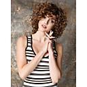 Χαμηλού Κόστους Συνθετικές περούκες χωρίς σκουφί-Συνθετικές Περούκες Σγουρά Kinky Curly Kinky Σγουρό Σγουρά Περούκα Κοντό Καφέ Συνθετικά μαλλιά Γυναικεία Καφέ